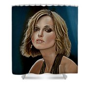 Keira Knightley Shower Curtain by Paul Meijering
