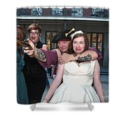 Keira's Destination Wedding - The Pirate Part Shower Curtain