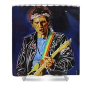Keith Richards Of Rolling Stones Shower Curtain