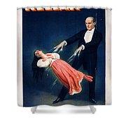 Kellar Levitation Vintage Magic Poster Shower Curtain