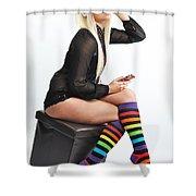 Kellie5 Shower Curtain