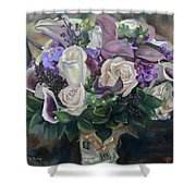 Kelly's Bridal Bouquet Shower Curtain