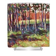 Kelly's Trees Shower Curtain