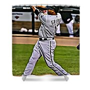 Ken Griffey Jr Painting Shower Curtain