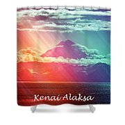 Kenai Alaska Mount Redoubt Shower Curtain