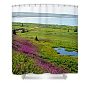 Kenai River Outlet On The Cook Inlet In Kenai-ak Shower Curtain