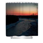 Kenai River Sunrise Shower Curtain