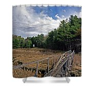 Kennebec River Rr Lighthouse Shower Curtain