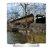Kennedy Covered Bridge - Chester County Pa Shower Curtain