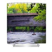 Kennedy Covered Bridge - Kimberton Pa. Shower Curtain