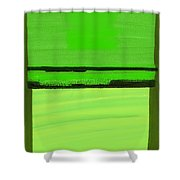 Kensington Gardens Series Green On Green Oil On Canvas Shower Curtain