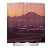Kent Valley With Mount Rainier Shower Curtain
