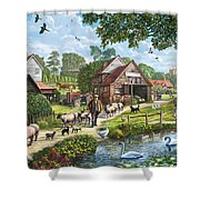 Kentish Farmer Shower Curtain
