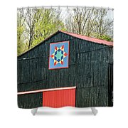 Kentucky Barn Quilt - 2 Shower Curtain