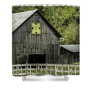 Kentucky Barn Quilt - 3 Shower Curtain