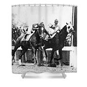 Kentucky Derby Foul Play Shower Curtain