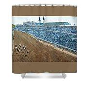 Kentucky Derby - Horse Race Shower Curtain