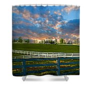 Kentucky Famous Horse Hotel Shower Curtain