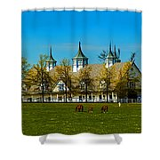 Kentucky Horse Barn Hotel Shower Curtain