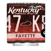 Kentucky License Plate Shower Curtain