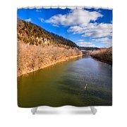 Kentucky River Palisades Shower Curtain