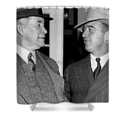 Kentucky Senators Visit Fdr Shower Curtain by Underwood Archives