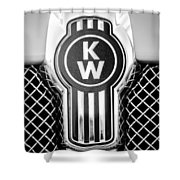 Kenworth Truck Emblem -1196bw Shower Curtain