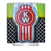 Kenworth Truck Emblem -1196c Shower Curtain