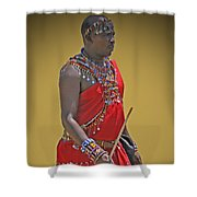 Kenya Warrior Shower Curtain