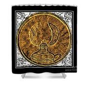 Kerosene Lamp - Brass Etching Shower Curtain