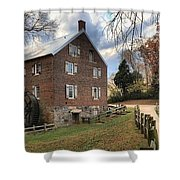 Kerr Grist Mill Panorama Shower Curtain