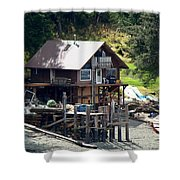 Ketchikan Buildings With Character 2 Shower Curtain