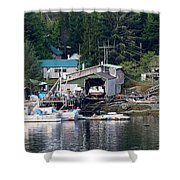 Ketchikan Buildings With Character 1 Shower Curtain