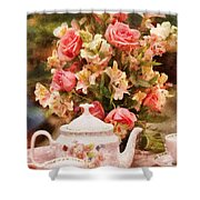 Kettle - More Tea Milady  Shower Curtain