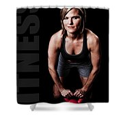 Kettlebell Time Shower Curtain