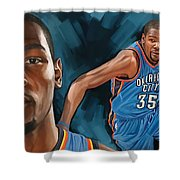 Kevin Durant Artwork Shower Curtain