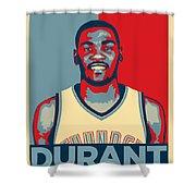 Kevin Durant Shower Curtain by Taylan Apukovska