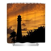 Key Biscayne Fl Lighthouse Img 6806 Shower Curtain