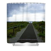Key Biscayne Storm Shower Curtain
