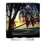 Key Biscayne Sunset Shower Curtain