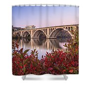 Graceful Feeling - Washington Dc Key Bridge Shower Curtain
