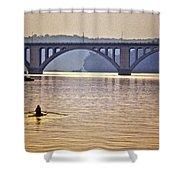 Key Bridge Rower Shower Curtain