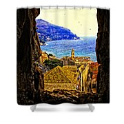 Key Hole View Of Dubrovnik 2 Shower Curtain
