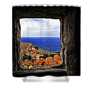Key Hole View Of Dubrovnik Shower Curtain