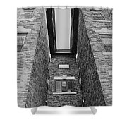 Key-stoning In Black And White Shower Curtain