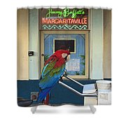 Key West - Parrot Taking A Break At Margaritaville Shower Curtain