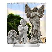 Key West Angels Shower Curtain