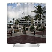 Key West Bayfront  Shower Curtain