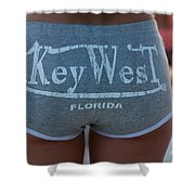Key West Hot Pants At The Beach Shower Curtain