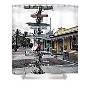Key West Wharf Shower Curtain
